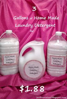 Jordan's Onion: Home Made Laundry Detergent