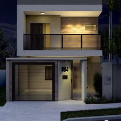 House Outer Design, Modern Small House Design, Small Modern Home, House Front Design, Minimalist House Design, Double Storey House Plans, Townhouse Exterior, Model House Plan, Townhouse Designs