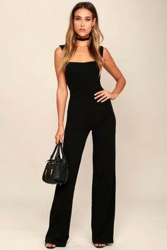 3e640bef8b8e Enticing Endeavors Black Jumpsuit Strapless Jumpsuit