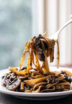 Balsamic Mushroom Pasta countryliving