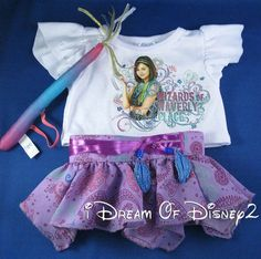 BUILD-A-BEAR DISNEY WIZARDS OF WAVERLY TOP, SKIRT, WAND TEDDY CLOTHES OUTFIT