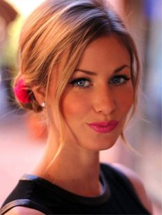 Center Part with Tendrils and Flower Updos for Thin Hair for 2016 The 2016…