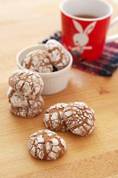 Chocolate crinkle cookies Chocolate Crinkle Cookies, Chocolate Crinkles, Cereal, Muffin, Breakfast, Food, Morning Coffee, Essen, Muffins