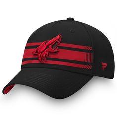 outlet store 72cdf 142f0 Men s Arizona Coyotes Fanatics Branded Black Garnet Iconic Stripe Speed  Flex Hat, Your Price