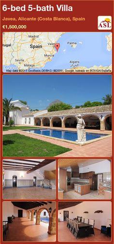 Villa for Sale in Javea, Alicante (Costa Blanca), Spain with 6 bedrooms, 5 bathrooms - A Spanish Life Murcia, Alicante Spain, Formal Gardens, Maine House, Old Town, Swimming Pools, Spanish, Villa, Bath