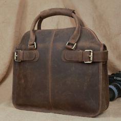 Handmade men's leather messenger bag leather briefcase(c106)