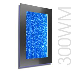 """300WMB 30"""" Wall Mount Bubble Wall LED Indoor Fountain Water Feature Black Frame Edition"""