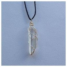 raw clear quartz necklace