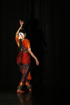 Bharatanatyam dancer and hand gestures