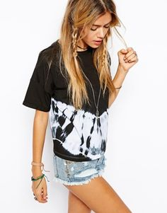 I LOVEEEEEE THIS SHIRT----  ASOS T-Shirt with Tie Dye Placement