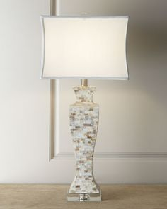 Mother-of-Pearl Lamp  at Horchow. (X2 Master Bedroom Nightstand Table Lamp) $195.00