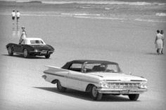 On February 20, the now-legendary Impala locked in its first-ever win in its first-ever race. Guided by Bob Welborn's steady hand and lead foot, the checkered flag started a trend of Daytona dominance for Chevrolet that continues to this day.