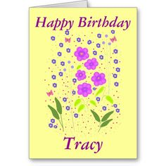 Modern Art Flowers, Birthday card, add name front  http://www.zazzle.com/cardshere* http://www.zazzle.com/artistjandavies*
