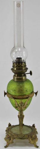 RARE Antique French Art Nouveau Wild Wessel Kosmos Woman Angel Figural Oil Lamp | eBay
