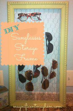 sunglasses storage frame