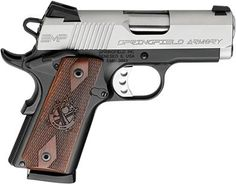 Springfield Armory EMP Enhanced Semi Auto Handgun S, Barrel 8 Rounds Thinline Cocobolo Grips Stainless Slide Black Anodized Frame Night Sights Springfield Armory 1911, Springfield Pistols, Night Sights, Fire Powers, Cool Guns, Awesome Guns, Home Defense, Guns And Ammo, Firearms