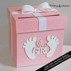 Card Box Baby Shower- Choose Your Colors and Size Baby Shower Glittered Card Box- Choose Your Colors and Size Regalo Baby Shower, Baby Shower Duck, Baby Girl Shower Themes, Girl Baby Shower Decorations, Baby Shower Princess, Elephant Baby Showers, Baby Shower Cards, Baby Shower Gender Reveal, Baby Shower Centerpieces