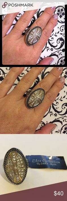 "🆕 Ethel & Myrtle Elite Collection Cross Ring 🆕 Ethel & Myrtle Elite Collection Cubic Zirconia Cross Ring Size 7. Width = 3/4"". Height = 1.25"". Brand New With Tags.  ✅Offers Welcome w/Offer Button 🚫Trade 🚫PP 💰20%OffBundle 📦Ships1Day Ethel & Myrtle Jewelry Rings"