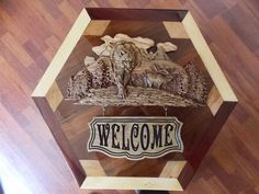 Elk Welcome Sign Cabin Wall Decor Wood by TheWoodGrainGallery