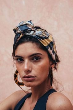 Silk scarf as headba