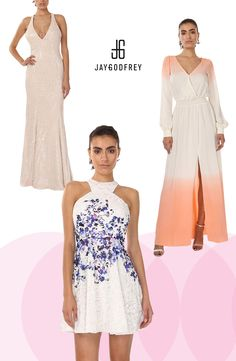 Play up the mixture of white and florals or ombre this season. Light colors mixed with a splash of texture ties everything together. Use code JGSPRING70 for $70 off a $200 purchase, valid 05/13/2016 - 05/23/2016