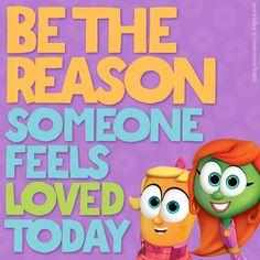 Veggietales, School Quotes, Feeling Loved, Happy Quotes, Gods Love, Veggies, Feelings, Lettuce, Scriptures