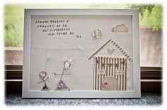 Regalo maestra asilo / Teacher Gift - fil di ferro / wireart - quadretto stoffa / fabric picture