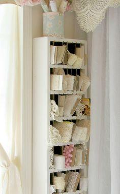 life in my studio: lace storage