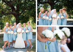 Light #cornflowerblue bridal party! Photo by Allison Marie Photography