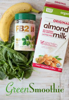 Peanut Butter Banana Skinny Green Smoothie | The Daily Dish