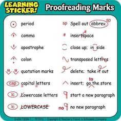 List of proofreading marks