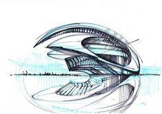 Santiago Calatrava, City of Arts & Sciences in Valencia, Spain