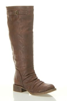 Blowfish Kanne Stacked Heel Riding Boot In Whiskey