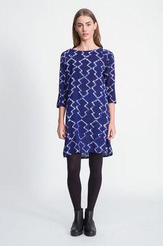 Linter Dress in Blue Pines