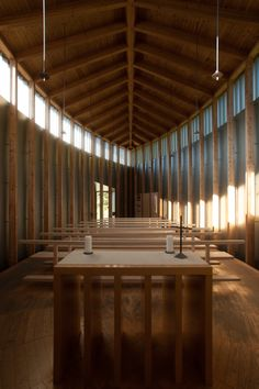 Saint Benedict Chapel , Zumvit, Switzerland (1984) Peter Zumthor
