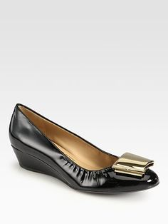 Salvatore Ferragamo - Tilda Leather Wedge Pumps