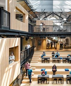 airbnb has again collaborated with architecture firm heneghan peng to complete its new international headquarters in dublin. Information Center, Tourist Information, Education Architecture, Architecture Design, Sierra College, Dublin House, Adaptive Reuse, Workspace Design, Loft Design