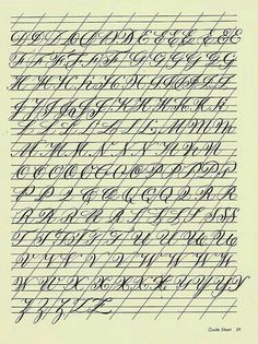 Beautiful cursive letter examples