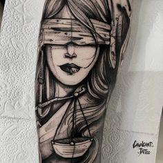 No photo description available. Anime Tattoos, Body Art Tattoos, Sleeve Tattoos, Cool Tattoos, Grey Tattoo, Cat Tattoo, Black Tattoos, Home Tattoo, Metallica Tattoo