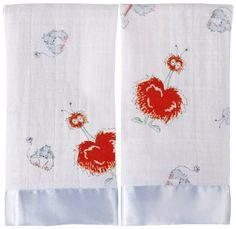 Amazon.com : aden + anais 2 Pack Muslin Issie Security Blanket, Declan - Elephant : Nursery Blankets : Baby