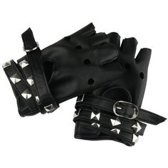 Amazon.com: Women Punk Rock Half Finger Gothic Gloves Cosplay Costume... ($9.69) ❤ liked on Polyvore featuring costumes, goth costume, womens costumes, womens biker costume, punk halloween costumes and goth halloween costumes