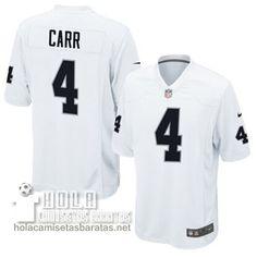 Camisetas Nfl Baratas Carr Oakland Raiders #4 Blanco  €32.9