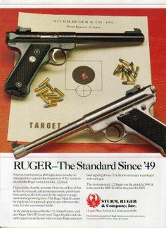 1990 Ruger Mark II Government Target Model Pistol Ad   eBay