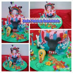 Torta infantil casita de mickey. #cordoba #tortas #eventos #cumpleaños #fiestas