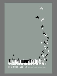 Piano bird #minimal #poster #design