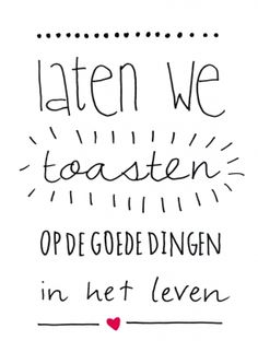 de goede dingen in het leven! || stuur een echt nieuwjaarskaartje! || Made by www.miekinvorm.nl