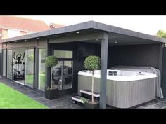 Garden room kids Hot tubs are great places to relax and with the bespoke wooden hot tub sheds that Bakers Timber Buildings produce, the experience will be even more relaxing! Imagine a hot tub summer house in your garden. Summer House Garden, Hot Tub Garden, Home And Garden, Summer Houses Uk, Wooden Summer House, Garden Room Extensions, House Extensions, Gym Shed, Garden Shed Gym Ideas