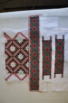 Beadwork and embroidery for Norwegian bunad.