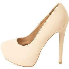 Charlotte Russe Nude Almond Toe Hidden Platform Pumps by Charlotte... ($23) ❤ liked on Polyvore featuring shoes, pumps, heels, sapatos, nude, charlotte russe pumps, nude heel shoes, pointed heel pumps, heels stilettos and charlotte russe shoes