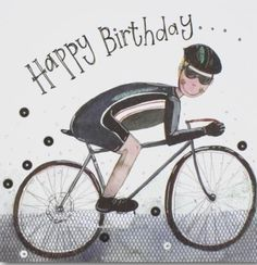 Happy Birthday Biker, Happy Birthday Bicycle, Happy Birthday Wishes Song, Happy Birthday Honey, Birthday Greetings For Facebook, Happy Birthday Art, Happy Birthday Celebration, Happy Birthday Greeting Card, Happy Birthday Messages